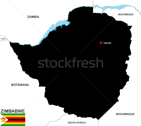 zimbabwe map Stock photo © tony4urban