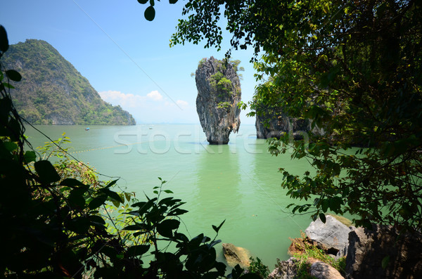 острове Таиланд небе воды морем деревья Сток-фото © tony4urban