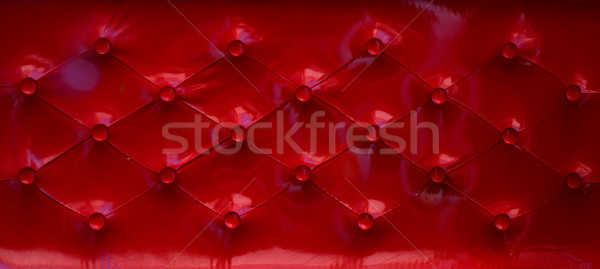 Red Leather Upholstery Stock photo © tony4urban
