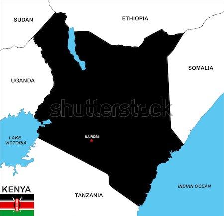Namibia mapa grande tamaño negro bandera Foto stock © tony4urban