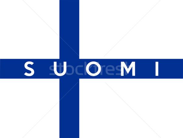 フラグ フィンランド ビッグ サイズ 実例 国 ストックフォト © tony4urban