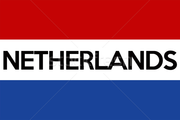 Vlag holland groot maat illustratie land Stockfoto © tony4urban
