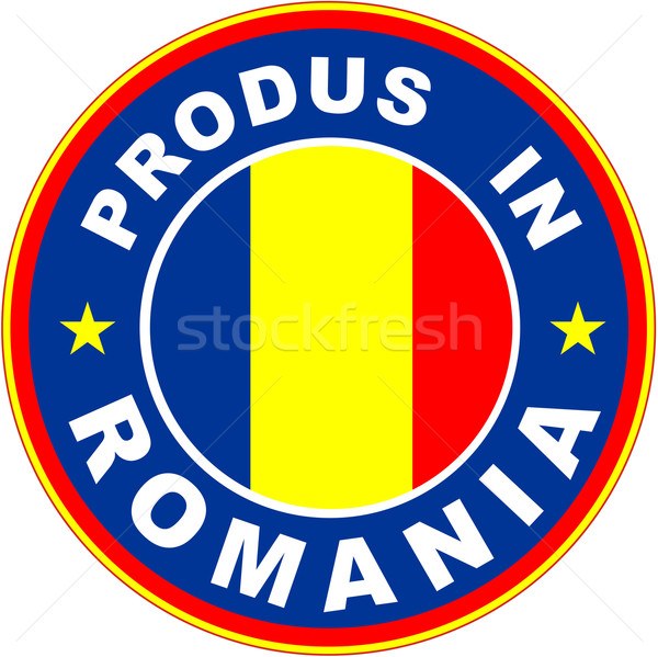 Roemenië vlag product label roemeense taal Stockfoto © tony4urban