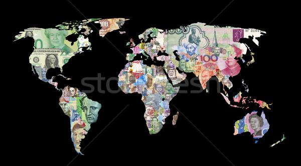 world currency map Stock photo © tony4urban
