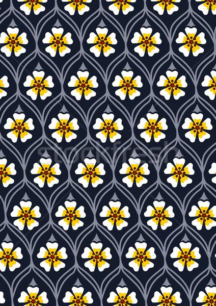 Abstrato padrão branco flor amarela natureza Foto stock © tony4urban