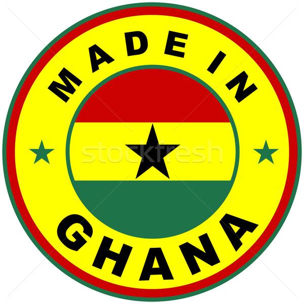 Ghana grande tamaño país etiqueta signo Foto stock © tony4urban