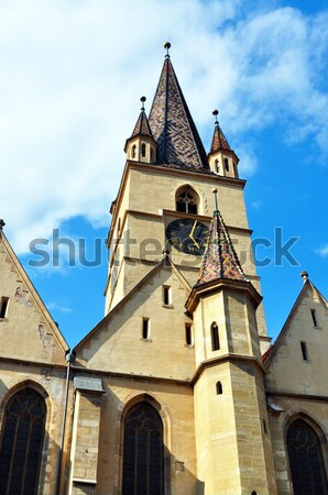 Sibiu Lutheran Cathedral Stock photo © tony4urban