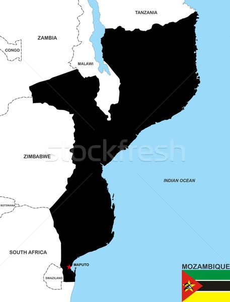 mozambique map Stock photo © tony4urban