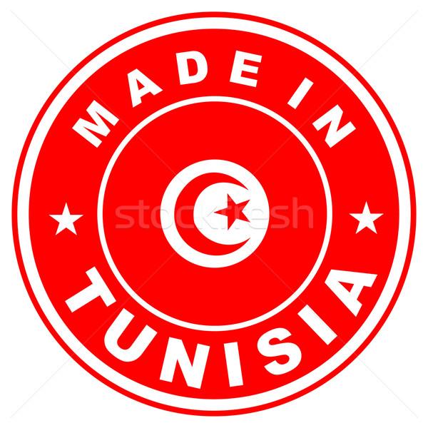 Тунис большой размер Label флаг стране Сток-фото © tony4urban