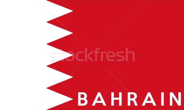 Bandeira Bahrein grande tamanho ilustração país Foto stock © tony4urban
