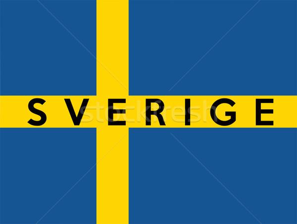 Bandeira Suécia grande tamanho ilustração país Foto stock © tony4urban