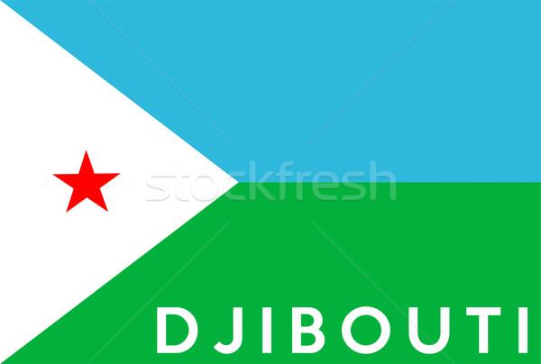 флаг Джибути большой размер иллюстрация стране Сток-фото © tony4urban