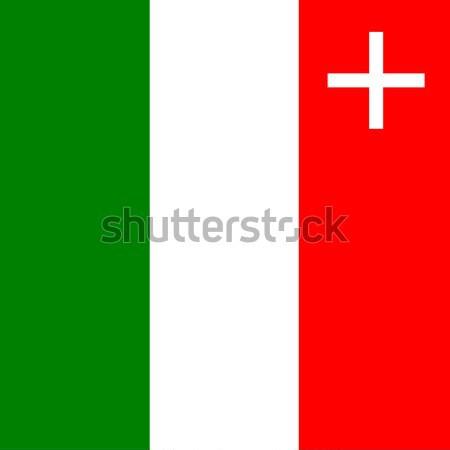 Flag of Canton of Neuchatel Stock photo © tony4urban