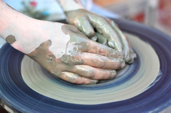 hands of a potter Stock photo © tony4urban