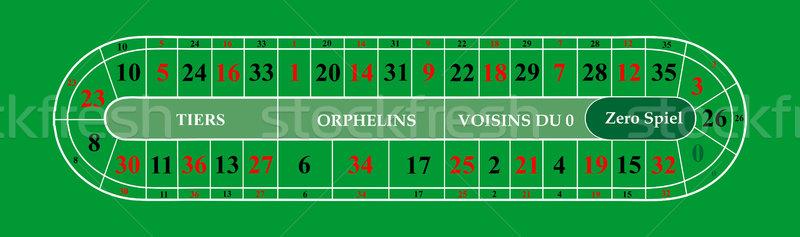Stockfoto: Roulette · digitale · casino · tabel · lay-out · gekleurd