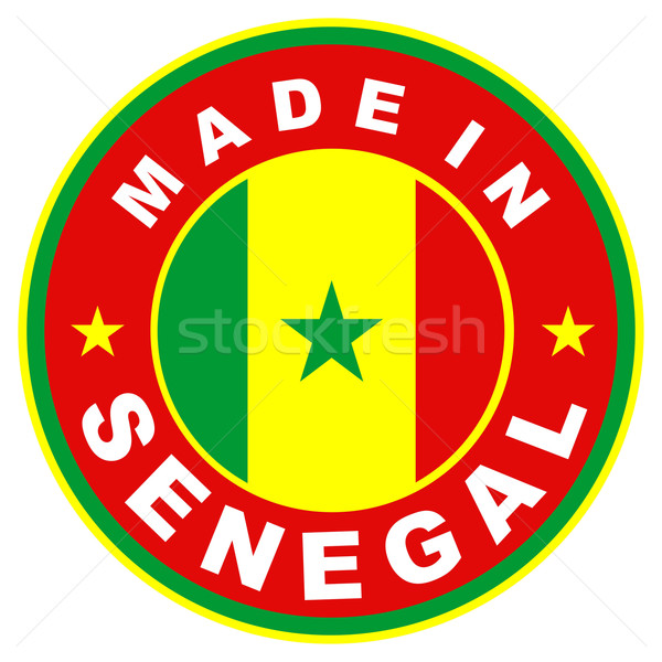 Senegal groot maat label vlag land Stockfoto © tony4urban