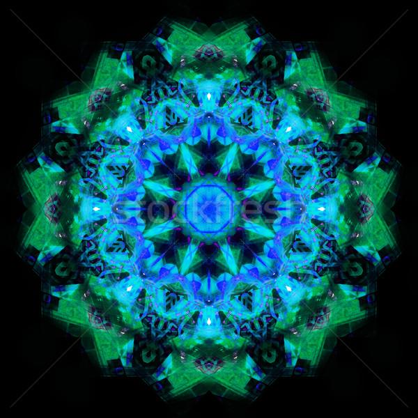 калейдоскоп компьютер генерируется бесшовный цветочным узором иллюстрация Сток-фото © tony4urban