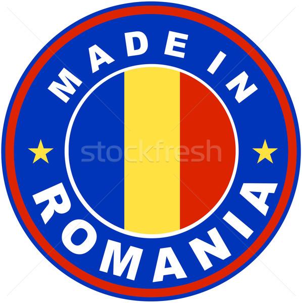 Romania grande dimensioni etichetta segno timbro Foto d'archivio © tony4urban