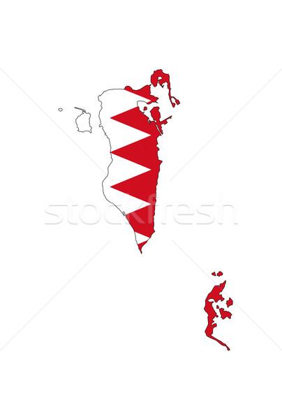 Bahrein bandeira mapa país forma Foto stock © tony4urban