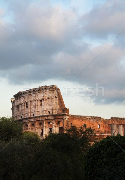 Coliseu Roma cidade Itália antigo ponto de referência Foto stock © tony4urban
