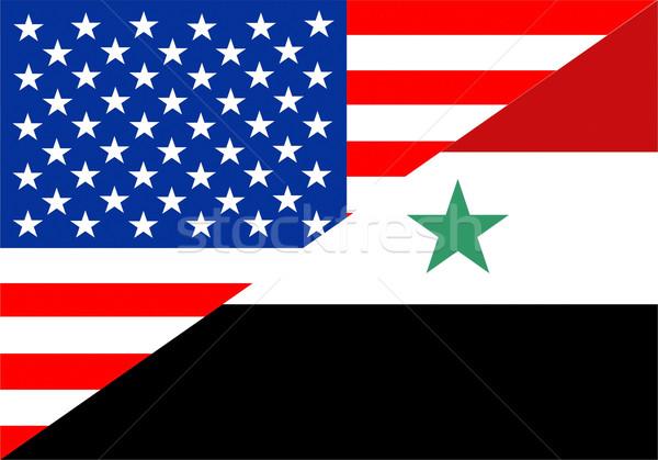 USA Syrië Verenigde Staten amerika half land Stockfoto © tony4urban