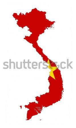 Viêt-Nam pavillon carte pays forme Photo stock © tony4urban