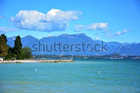 Stad Italië meer boten landschap water Stockfoto © tony4urban