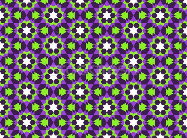 Motif géométrique religieux géométrique décoration modèle Photo stock © tony4urban
