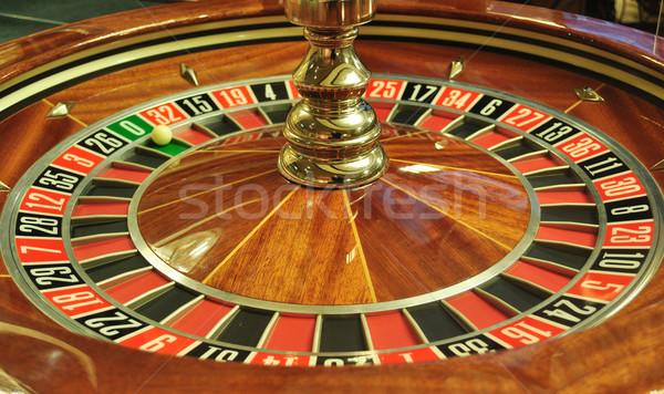 Rueda de la ruleta imagen casino pelota número Foto stock © tony4urban