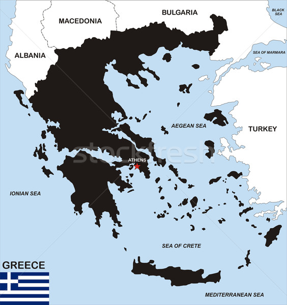 greece map Stock photo © tony4urban