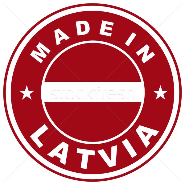Letland groot maat land label teken Stockfoto © tony4urban