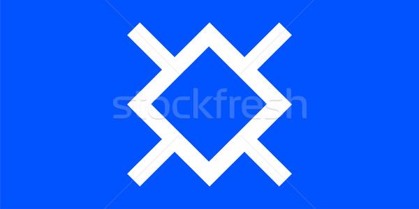 Indian rezerwacja banderą ludzi etnicznych Zdjęcia stock © tony4urban