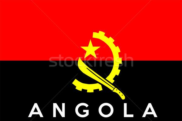 флаг Ангола большой размер иллюстрация стране Сток-фото © tony4urban