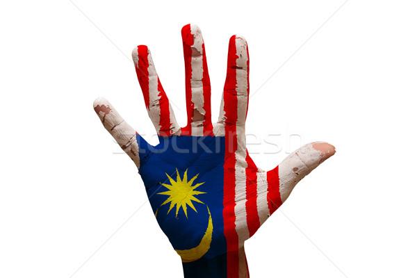 palm flag malaysia Stock photo © tony4urban