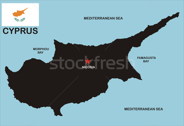 cyprus map Stock photo © tony4urban