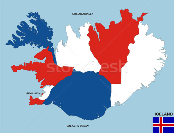 iceland map Stock photo © tony4urban