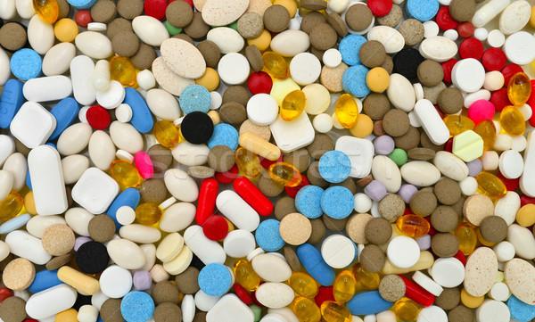 Pillen textuur kleuren drugs patroon Stockfoto © tony4urban
