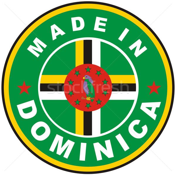 Stockfoto: Dominica · groot · maat · land · label