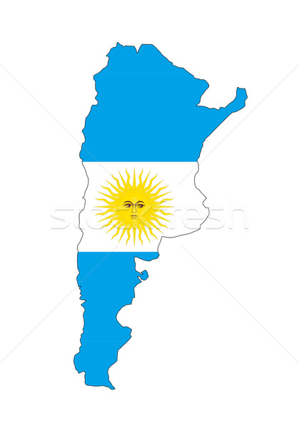 Argentine pavillon carte pays forme Photo stock © tony4urban