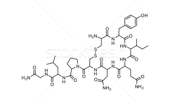Liefde chemische formule wetenschap symbool communie Stockfoto © tony4urban