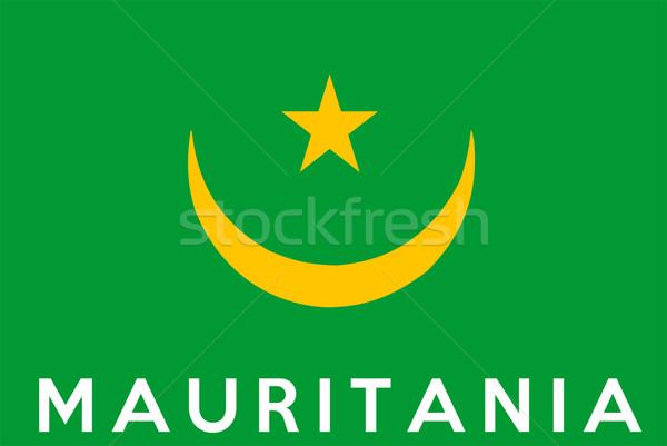 flag of Mauritania Stock photo © tony4urban