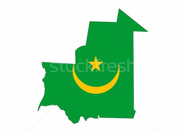 mauritania flag map Stock photo © tony4urban