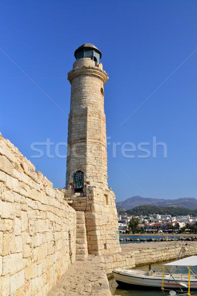Phare repère ville Grèce lumière maison Photo stock © tony4urban
