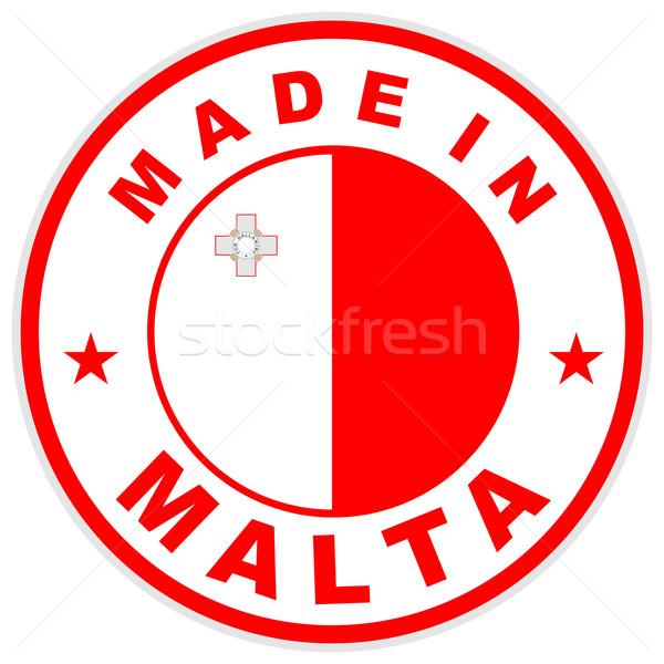 Malta grande tamanho país etiqueta assinar Foto stock © tony4urban