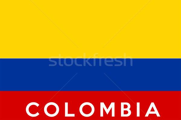 Zászló Colombia nagy méret illusztráció vidék Stock fotó © tony4urban