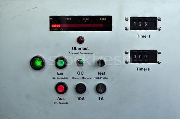 Ipari panel részlet gép gép retro Stock fotó © tony4urban