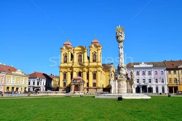 組合 広場 市 ルーマニア ローマ カトリック教徒 ストックフォト © tony4urban