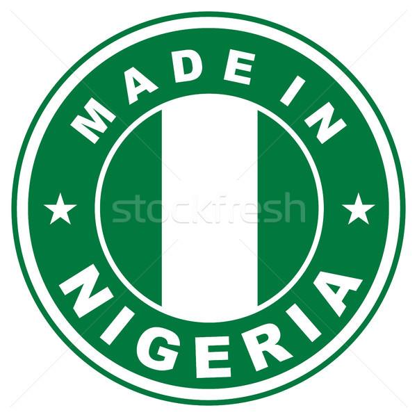 Nigéria grande tamanho país etiqueta assinar Foto stock © tony4urban