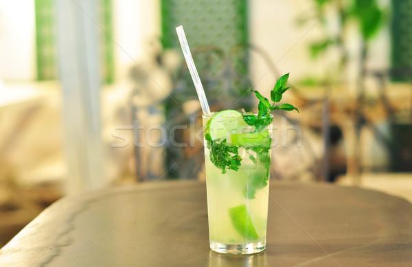 Mojito vetro cocktail alcol menta Foto d'archivio © tony4urban