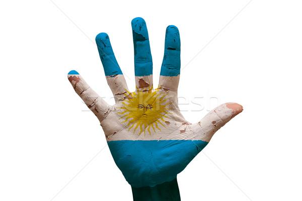 Palm pavillon Argentine homme main peint Photo stock © tony4urban